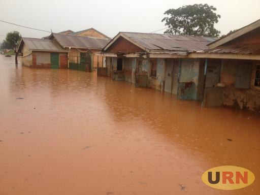 Heavy flooding in the area of Mulago-Kyebando in the center of Kampala