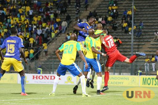 KCCA FC battling Sundowns in the first leg in Pretoria.