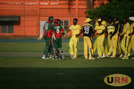 Uganda Cricket team after facing the Kenyan team last weekend.