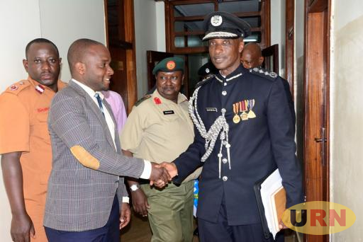 Kale Kayihura, the Inspector General  of Police leaving parliament recently.