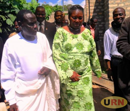 Bambi Baaba Babuwee, the Sserulanda Spiritual leader who died. In pic he was hosting Rebecca Kadaga speaker of Parliament at his shrine in Kabila. File photo