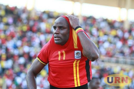 Geoffrey Massa after a game with the Uganda Cranes.