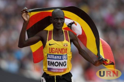 Emong celebrates after winning gold.