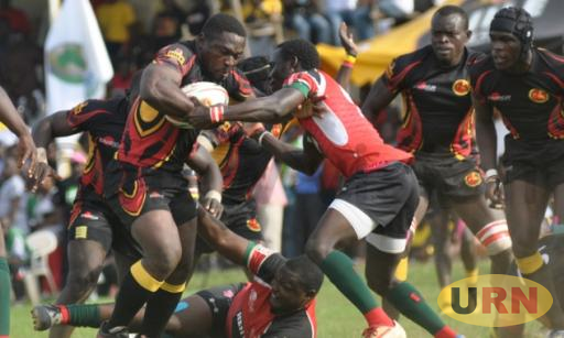 Uganda Rugby Cranes battling Kenya in a previous match.