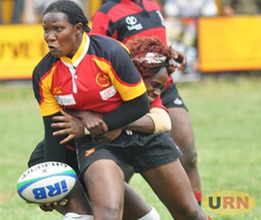 Uganda Lady Rugby Cranes battling Kenya in a previous game.