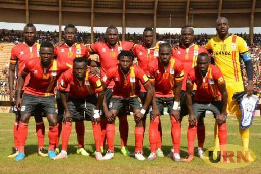 Uganda Cranes team that face Ghana last weekend.