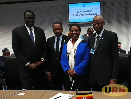 Engineer Irene Muloni at the 17th meeting of OPEC in Vienna