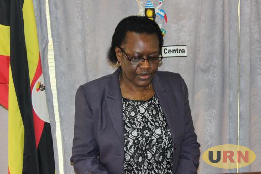 Justice Irene Mulyagonja, the Inspector General of Government delivering the Statement at Media center this morning