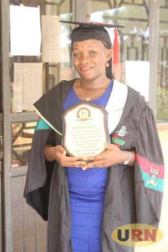 Caroline Namyenya, the overall best student in the Humanities obtained a Cumulative Grade Point Average of 4.95 in the Bachelor of Commerce - Accounting option.