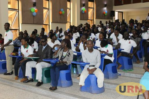 Some of the students with disabilities during the Kyambogo University Disability day commemoration