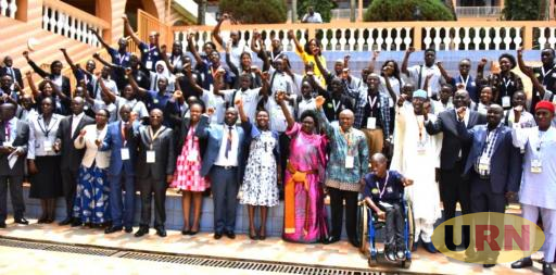 A section of Commonwealth Youth delegates from different African Countries pose for a picture at Hotel Africana.