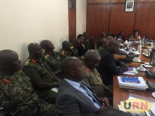 Defense officials appear before committee of Parliament