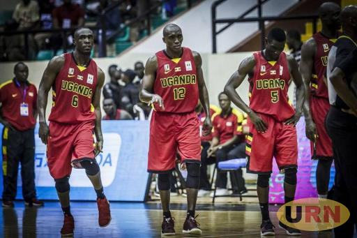 Part of the Uganda team during a game