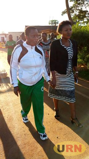 Betty Nambooze after her release at Naggalama police station