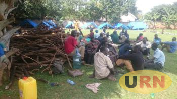 Apaa Residents Construct Tents Inside UN Compound in Gulu Town