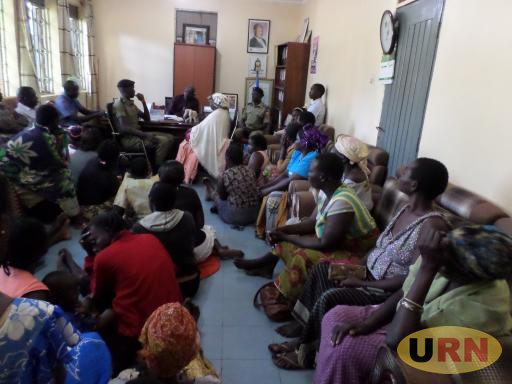 Kitgum Market vendors gather in the LC5 chairperson's office