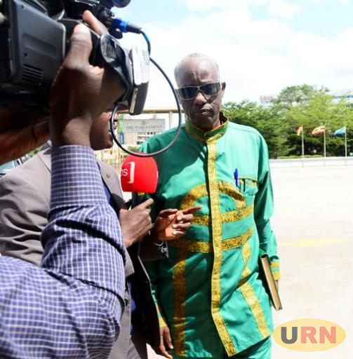Security Minister Gen. Elly Tumwine arriving at Parliament recently.