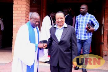Former Prime Minister Apollo Nsibambi at St. Paul's Cathedral Namirembe.