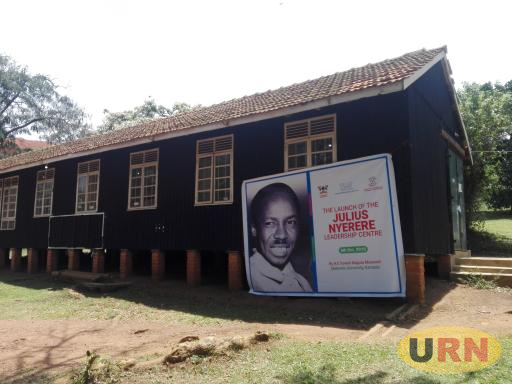 A wooden structure that formerly housed the Makerere University Bookshop will now become a Julius Nyerere Leadership Center –JNLC as launched by the president today.