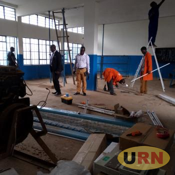 Workers carrying out renovation at Muteesa I Royal University
