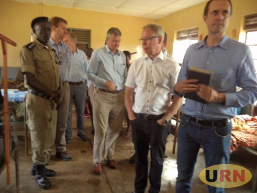 European Union Ambassadors touring Kyangwali Health Center III Maternity ward.
