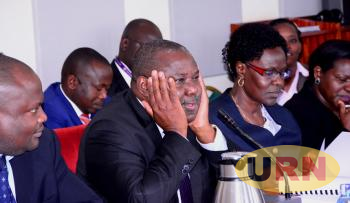 Judiciary Permanent Secretary Kagole Kivumbi lost in thought following several inquiries by MPs.