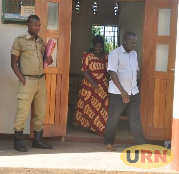 Grace Nantubiro and Ronald Mugwabya at Mubende Chief Magistrate's court