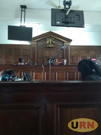 The presiding judge,  Justice Jane Francis About during the court sesion