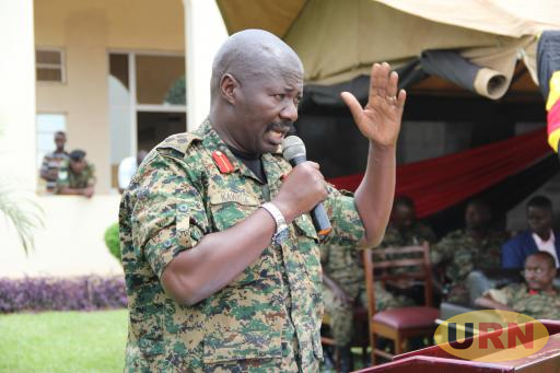 Brig. Samuel Kawagga, during the pass out of company commanders at Junior command and staff college (JCSC) in Jinja district.