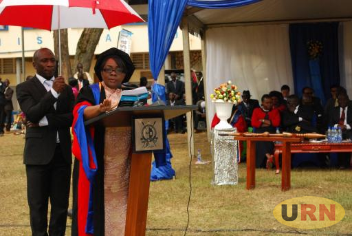 Muteesa Royal University Chancellor Justice Julia Ssebutinde at their Seventh graduation on Friday, .jpg