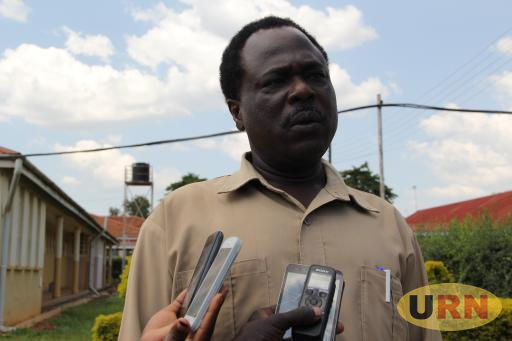 Dr. Jackson Ojera, speaks to the press on arrival at Jinja regional referral hospital.