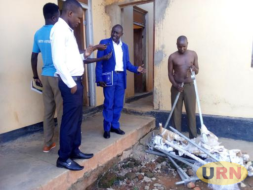 Emmanuel Odokonyero being paraded before press at Kitgum Central Police Station before his irregular release from custody