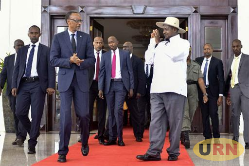 March 2018: Kagame paid a day courtesy visit to Museveni to discuss normalisation of relationship between Uganda and Rwanda