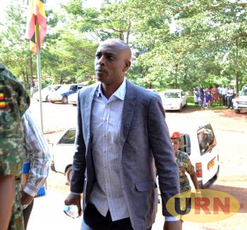 Former Commander of Flying Squad Assistant Commissioner of Police , Herbert Muhangi arriving at Court Martial. File Photo.