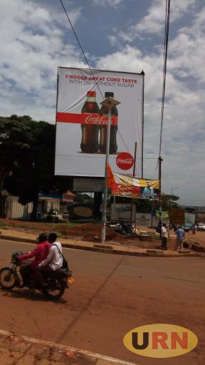 One of the advertising corners in Masaka town, the Municipality is considering increments in tax levies in billboards .jpg