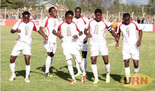 Kenyan  players celebrate after winning one of the matches in the on-going Cecafa Senior Challenge Cup.