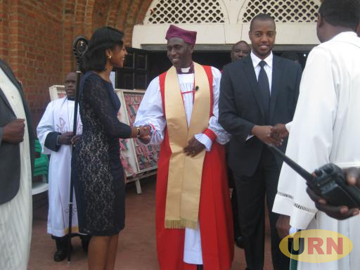 Bishop Kisembo greets Princess Komuntale