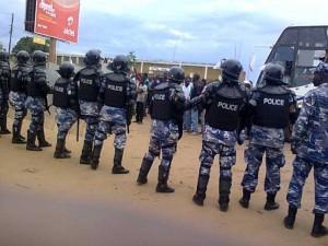 Police block DP candidate Brenda Nabukenya from proceeding to Kasana taxi park in Luweero