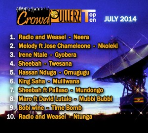 top 10 hits july 2014