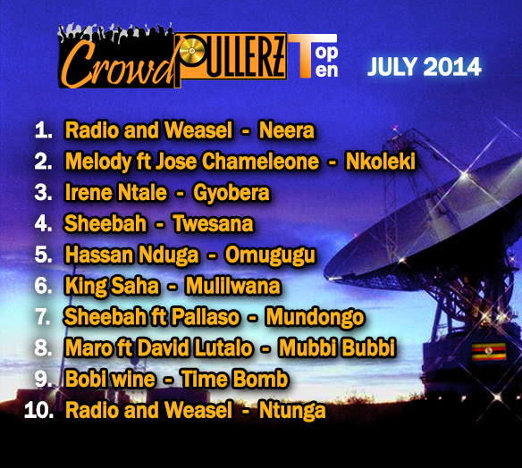 top 10 music charts july 2014