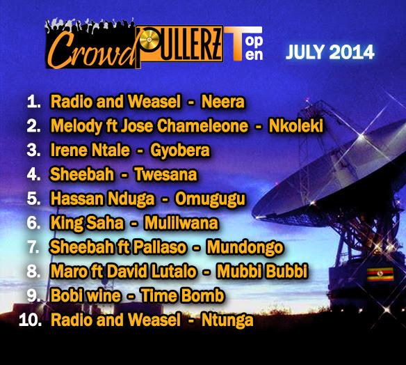 top ten music 2014 july