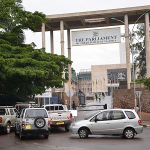 Main entrance to the Ugandan Parliament