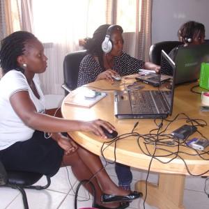 Interns; Mary Kyomuhendo, Faith Owoda and Irene Zawedde Sanyu